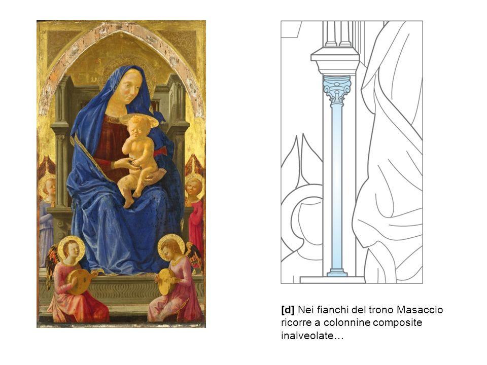 [d] Nei fianchi del trono Masaccio